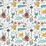 poppy jungle diertjes witte ondergrond