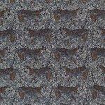 camel cognac zwart camouflage luipaard - digitaal tricot