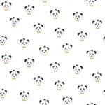 panda bij triangel vakjes