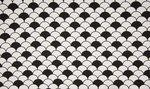wit zwart schulp katoen