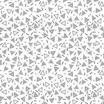 hydrofiel triangel wit zwart poppy
