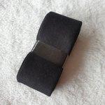 biaisband katoen 3cm zwart