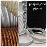 goud (mat) lurex paspelband - piping 1cm_