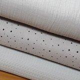 confetti en uni hydrofiel met wafel licht grijs