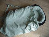 babynestje vintage groen confetti met grove wafel en bijpassend badstof matrasje, teddy deken en draagtas @ellebel (3)