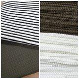 army wafel met big knit wit en army met ongelijke strepen katoen zwart wit (1)
