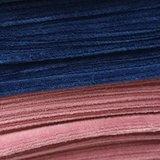 donker blauw en oud roze velvet