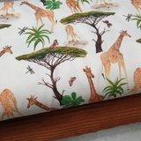 giraffen digitale tricot katoen met cognac rib katoen tricot