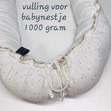 vulling wattine, hier een babynestje gemaakt door iniminibaby belgie