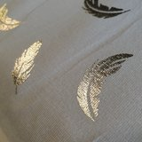 foil jersey feathers gold (2)