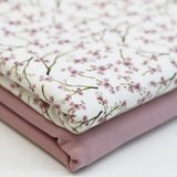 bloesem takjes roze BEEBS met oud roze tricot