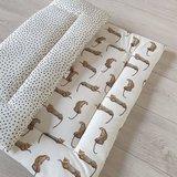 kieke en kek boxkleed met digitale luipaard tricot en ongelijke nopjes mini (fiberfill) (2)