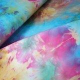 batik tricot roze blauw camelbruin fuchsia