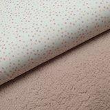 mini spetters digitale print met oud roze licht baby teddy