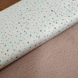 confetti oud roze stipjes grijs mint poplin print met oud roze licht baby teddy