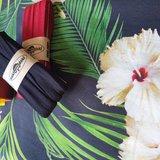 digitale bloemen met donkerrood bias en zwart bias (rekbaar)