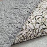 grijze kabel tricot met olijfbladeren tricot BEEBS