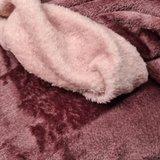 oud roze licht - mauve dubbelzijdige wellness fleece