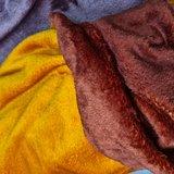 cognac/oker terracotta dubbelzijdige wellness fleece