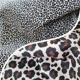 beige kiezel zwart luipaard met kiezel pantertje poplin