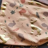 kerst bos poeder roze mat goud tricot