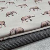 olifantje tricot digitaal met donkergrijs fijne rib tricot BEEBS