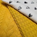hartjes tricot met mosterd oker wafel en kabel tricot (1)