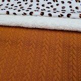 roxx luipaard terracotta katoen met cognac kabel tricot en spierwitte katoenen teddy
