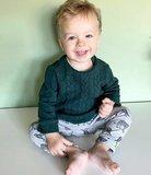 grijs melee luipaard met kabel tricot trui @littelbumpys