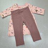 baby legging oud mauve baby rib - patroon los te koop en in deel 2 van baby tot kleuter