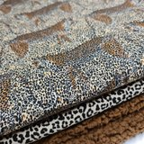 camouflage luipaard tricot met bruine baby teddy BEEBS en kiezel pantertje tricot