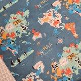 weleld dieren digitale katoen udi - BEEBS kinderserie met witte wafel