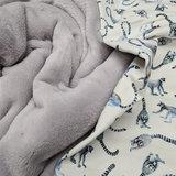 maki aapjes met licht grijs wellness fleece BEEBS