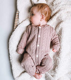 baby pakje van kabel tricot @littlebumpys oud roze - mauve