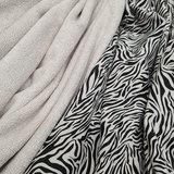 kiezel bamboe badstof en kiezel zebra