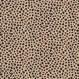 beige (natural) bruin zwart luipaard rondjes poplin