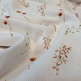 wit (off white) cognac tulpen bloemen SOFT rib