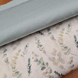 wit (off white) vintage groen eucalyptus takjes digitaal en uni vintage mint poplin