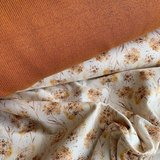 cognac baby katoen fijn gebreide stof met paardenbloem pluis tricot BEEBSstofjes