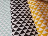 Swessie vaste triangels poeder mint, zwart en geel
