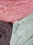 wellness fleece oud roze, vintage groen & donker grijs