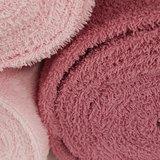 oud roze en licht roze badstof