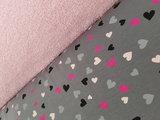 tricot hartjes met roze badstof (1)