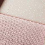licht roze badstof en licht roze triangels
