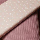 oudroze wfel met roze witte triangel