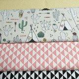 kleurboek taupe vaste triangels zwart en koraal