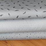 BEEBS veertjes en confetti tricot grijs met licht grijze wafel