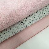 udi confetti licht roze wafle en licht roze badstof