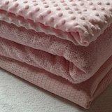licht roze wafel badstof minky noppenfleece