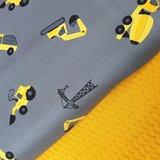 graafmachines bouwvoertuigen grijs geel